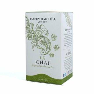 Herbata zielona z aromatycznymi przyprawami, saszetki 40g - Hampstead Life Chai Green Tea