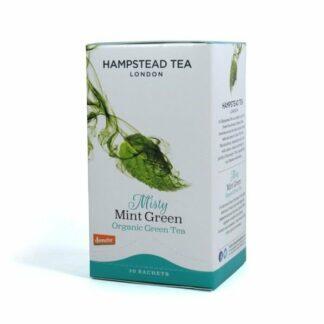 Herbata zielona z miętą, saszetki 40g - Hampstead Misty Mint Green