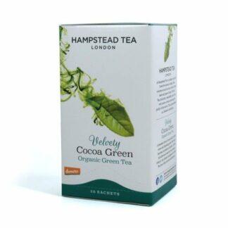 Herbata zielona z łuską kakaową, saszetki 40g - Hampstead Velvety Cocoa Green