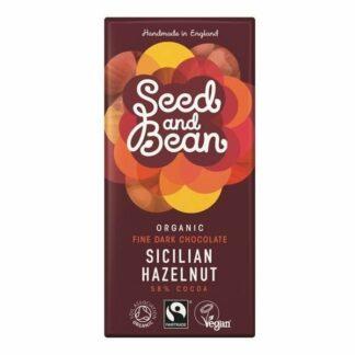 Czekolada gorzka 58% orzechowa 85g Seed&Bean