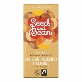 Czekolada mleczna 37% orzechowo-migdałowa 85g Seed&Bean